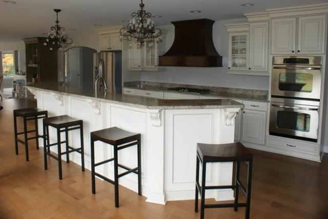 Open Savannah Two Tone Kitchen Transitional Kitchen