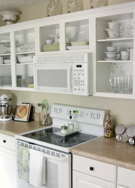 Open shelving in kitchen traditional kitchen houston by the
