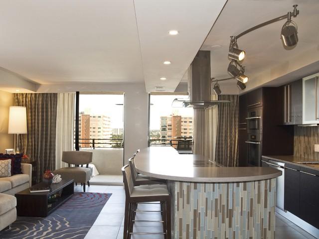 Open Space Concept Kitchen Moderno Cucina Miami Di Design Space Associates Inc