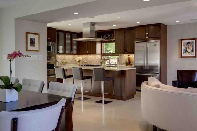 Open space kitchen classico cucina los angeles di - Open space cucina soggiorno classico ...