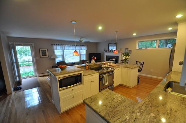 Open White Kitchen traditional-kitchen