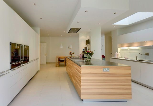 Opening up a bigger kitchen space contemporary-kitchen