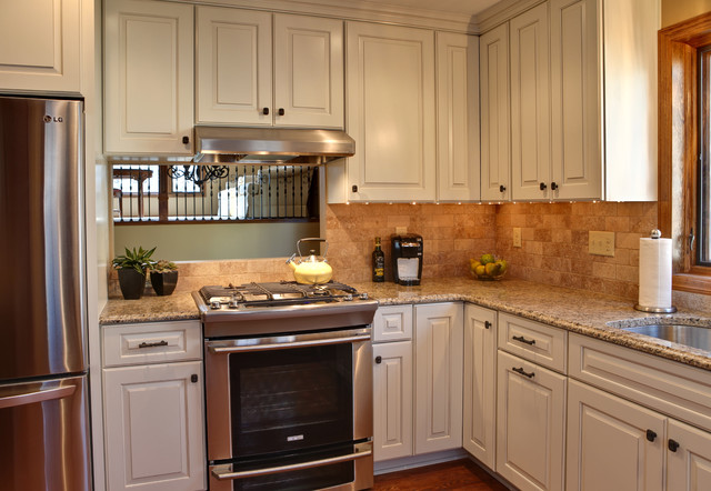 Opening Up A Closed In Kitchen Space Traditional
