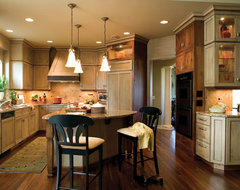 Opposites Do Attract rustic-kitchen