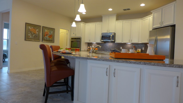 Orange and Grey House  Contemporary  Kitchen  orlando  by The R E