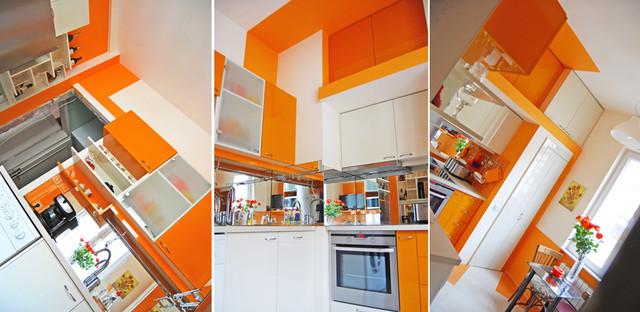 """Orange Appetite"" by Brani & Desi modern-kitchen"