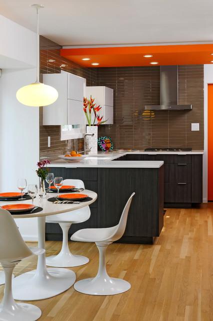 Orange Blaze - Contemporary - Kitchen - DC Metro - by Davida's Kitchen & Tiles