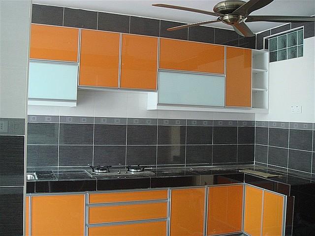 Orange color kitchen cabinet  Modern  Kitchen  san luis obispo  by