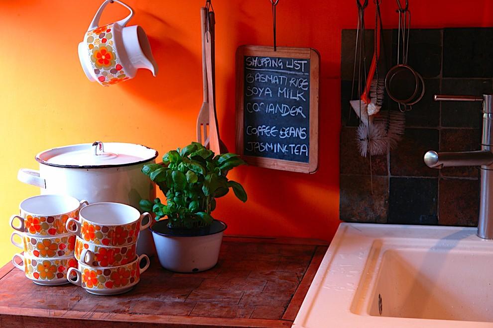 Idées déco pour une cuisine éclectique.