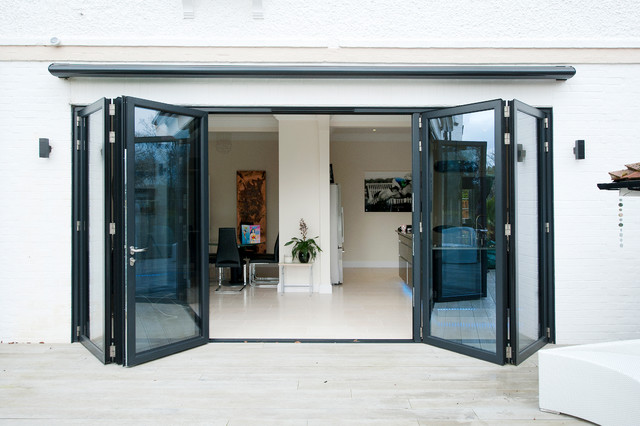 Orangery From Kitchen With Bi Folding Doors Contemporary