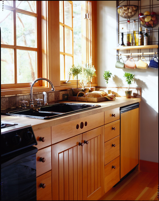 Orcas Island Cabin rustic-kitchen