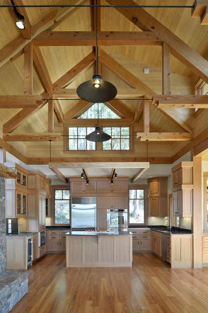 Room In Attic Truss Design: Orcas Island Residence
