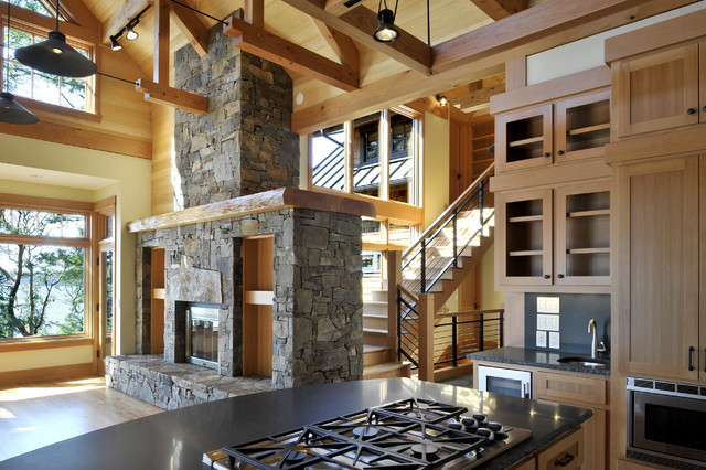 Orcas Island Residence rustic-kitchen