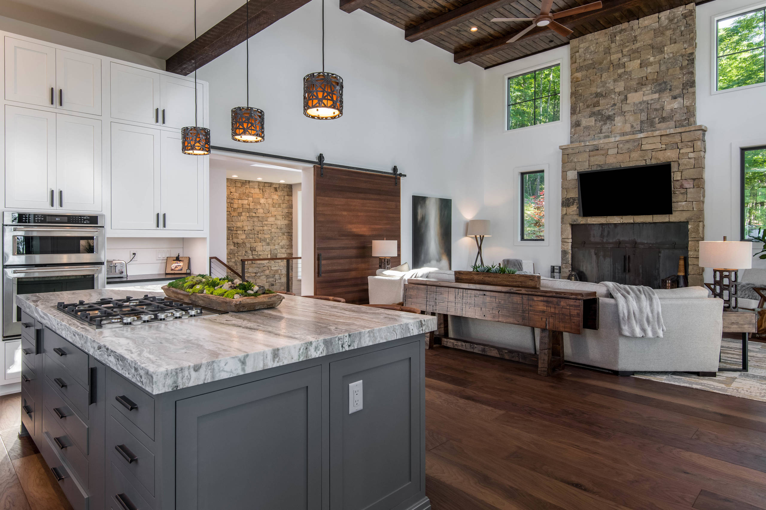 Organic Modern Mountain Home Rustic Kitchen Other By Living Stone Design Build Houzz