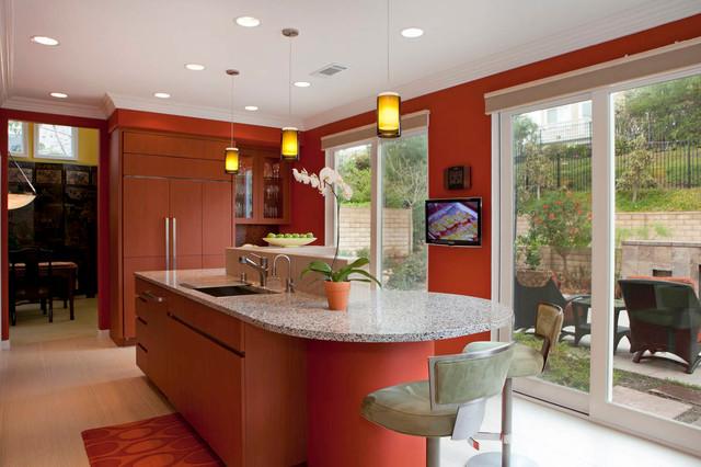 Organized Asian Contemporary Home contemporary-kitchen