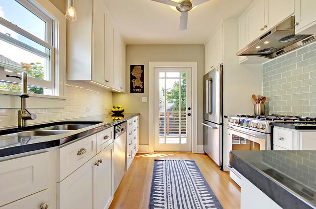 original Tudor kitchen, remodeled