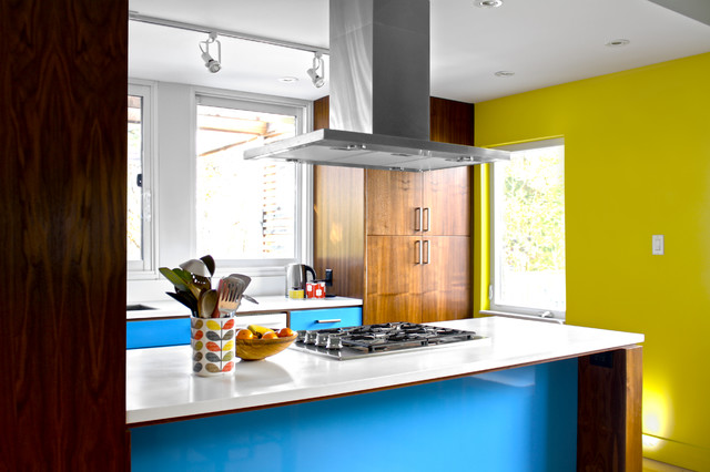 Orla Kiely Inspired Renovation Midcentury Kitchen