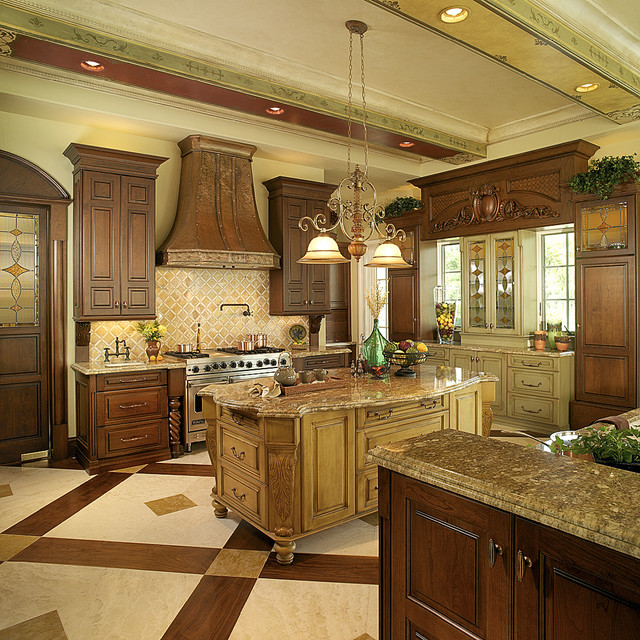 Tuscan wall decor bathroom - Orlando Mediterranean Kitchen Other Metro By Busby Cabinets