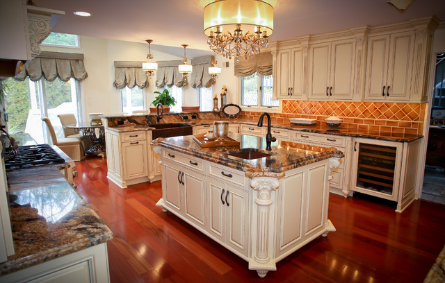 Ornate Kitchen in Spring Lake, NJ - traditional - kitchen - newark
