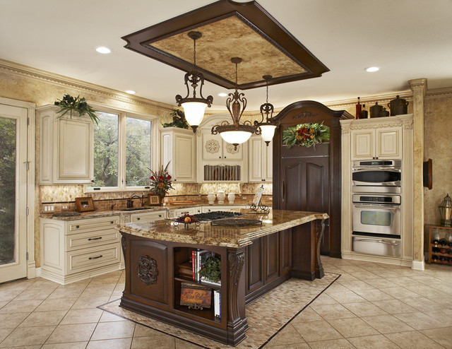Ornate Traditional Kitchen - Traditional - Kitchen - other metro - by Euro Design/Build/Remodel