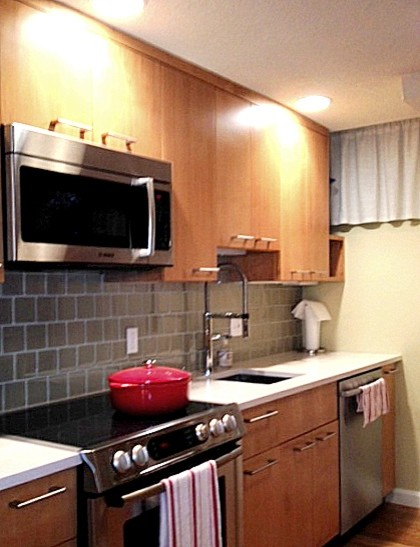 Other Side Of Small Galley Kitchen Transitional Kitchen Boston By Kim Eifrid Akbd