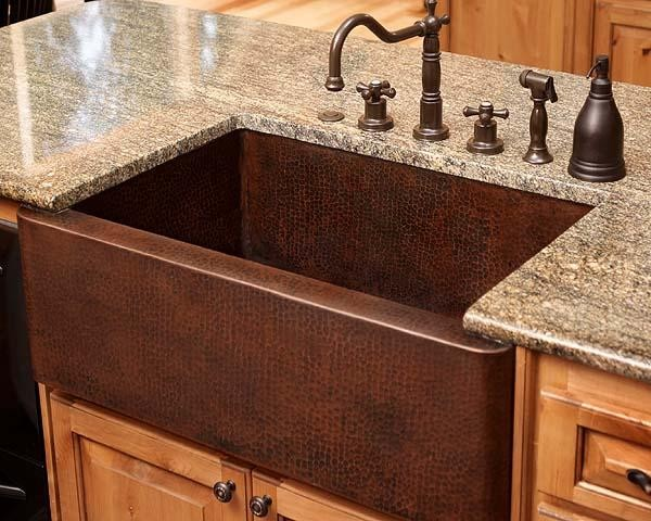 Farmhouse Sink Without Apron : Related Keywords & Suggestions for hammered copper farmhouse sink