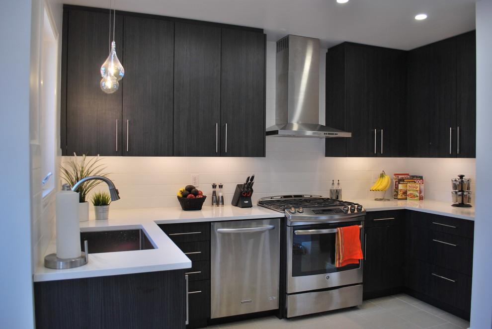 Kitchen - modern kitchen idea in Ottawa
