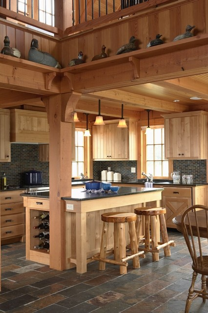 Otter Tail Hunting Lodge - Rustic - Kitchen - minneapolis - by David Heide Design Studio