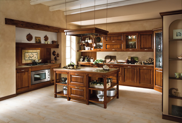 Ottocento traditional kitchen san diego by italian for Kitchen cabinets san diego