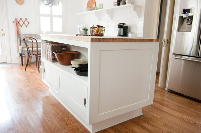 Our bright, white, open kitchen modern-kitchen