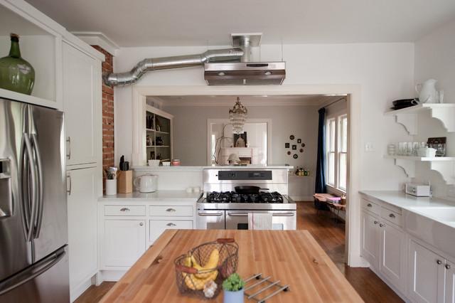 Our bright white open kitchen modern kitchen dallas by emily