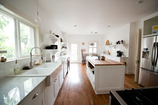 our bright white open kitchen traditional kitchen dallas by emily mccall. Black Bedroom Furniture Sets. Home Design Ideas
