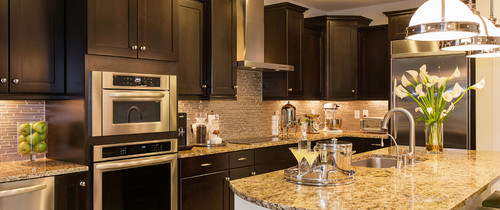 black cabinets contemporary design