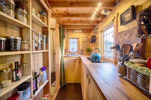 Our tiny tack house rustic kitchen seattle by the tiny tack house Home bar furniture seattle
