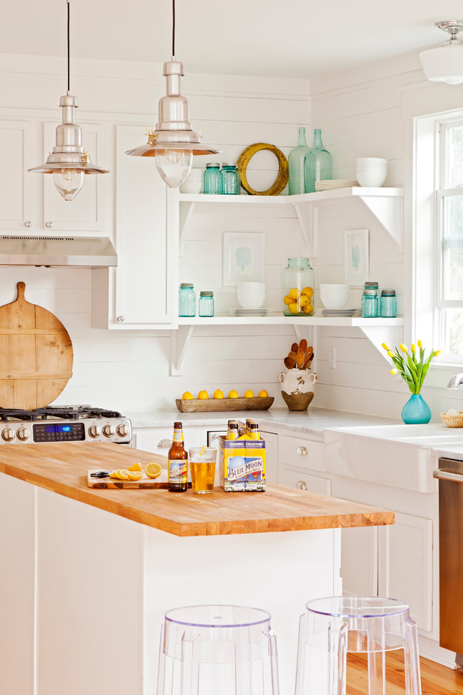 Inspiration for a coastal kitchen remodel in Charleston