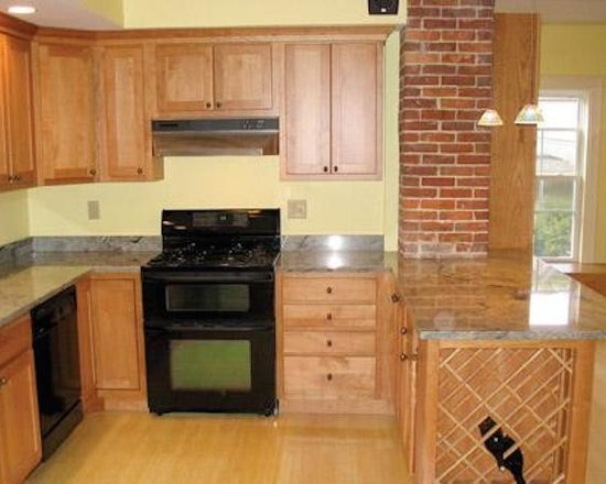 Traditional Galley Kitchen Kitchen Design Ideas Remodels Photos With Black Appliances And