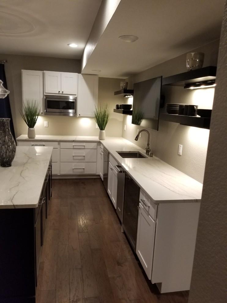Trendy kitchen photo in Denver