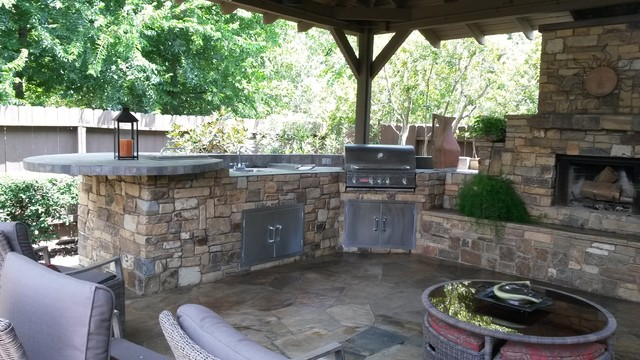 Outdoor Kitchen By Increte Of Houston Rustic Kitchen Houston By Increte Of Houston