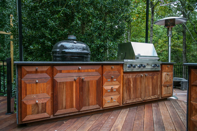 Kennesaw Outdoor Kitchen Modern Kitchen Atlanta By Cabinets Of Atlanta Inc