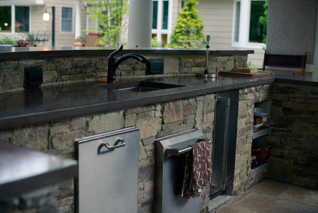 Outdoor kitchen designs nj beach style kitchen new for Outdoor kitchen ideas houzz