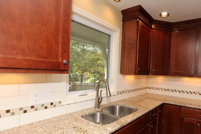 Overland Park Ranch 1050's era transitional-kitchen