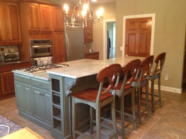 oversized kitchen island traditional kitchen new