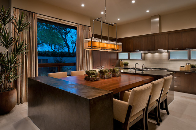 Kitchen Island With Dining Table Attached ownby design - contemporary - kitchen - phoenix -ownby design