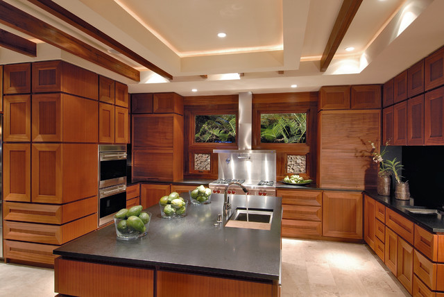 Inspiration For A Contemporary Kitchen Remodel In Hawaii With Stainless  Steel Appliances And Granite Countertops Part 85