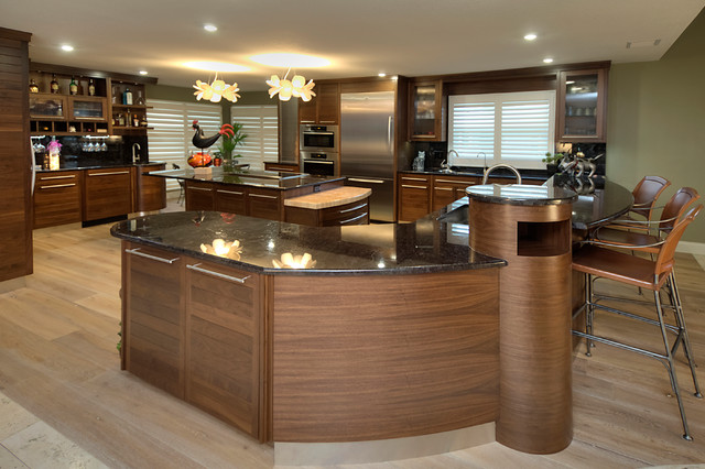 Ozona Kitchen Great Room Remodel Contemporary Kitchen Other Metro By Tampa Bay Millworks