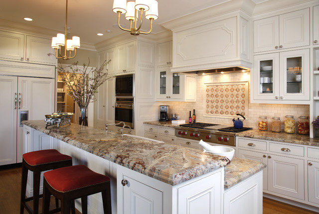 Kitchen Traditional Idea In San Francisco With Beaded Inset Cabinets White