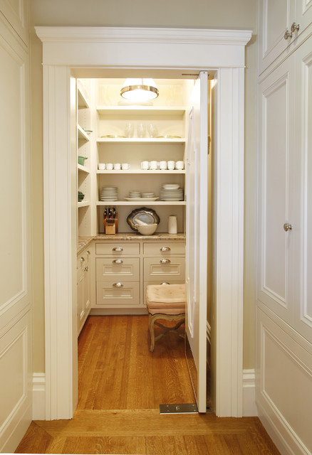 Pacific Heights Residence - Pantry traditional kitchen