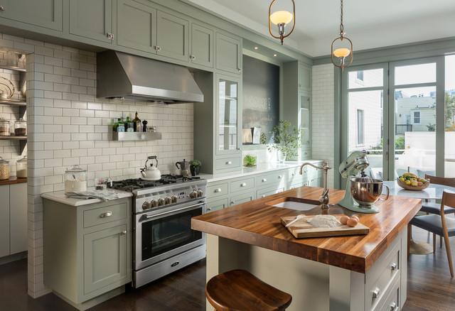 Pacific heights residence victorian kitchen san for Houzz