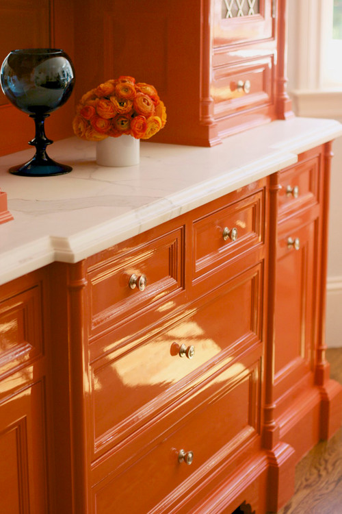 Burnt Orange Kitchen Cabinets beautifully colorful painted kitchen cabinets