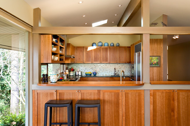 Pacific NW Mid-Century Kitchen Remodel - Midcentury - Kitchen ...